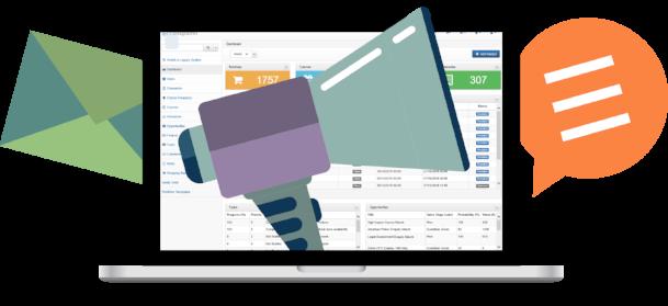 Training management software system dashboard