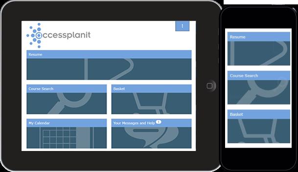 Learner portal to deliver online training materials