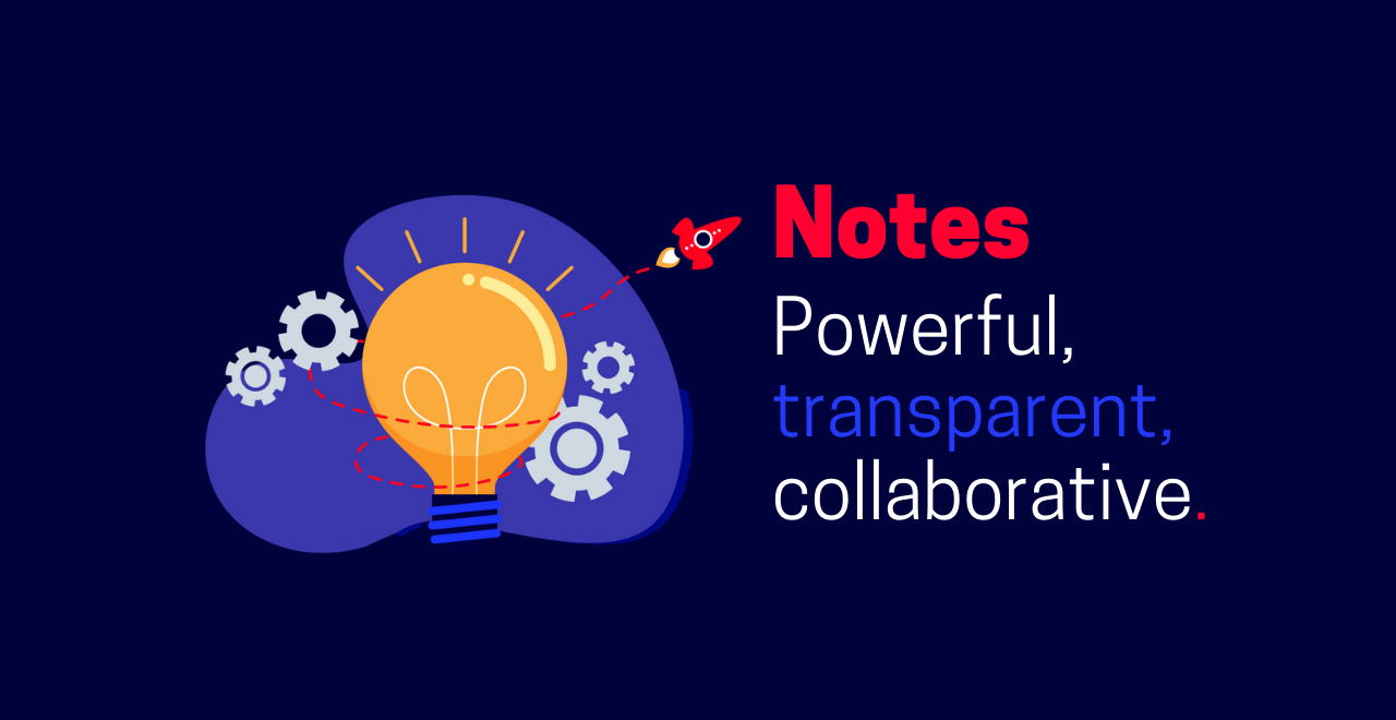 notes functionality for your training business graphic
