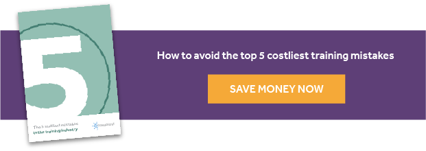 The 5 costliest mistakes in training