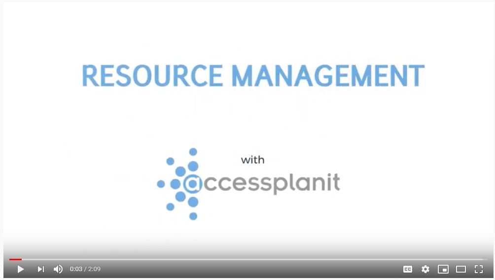 Video: accessplanit Resource Management Overview