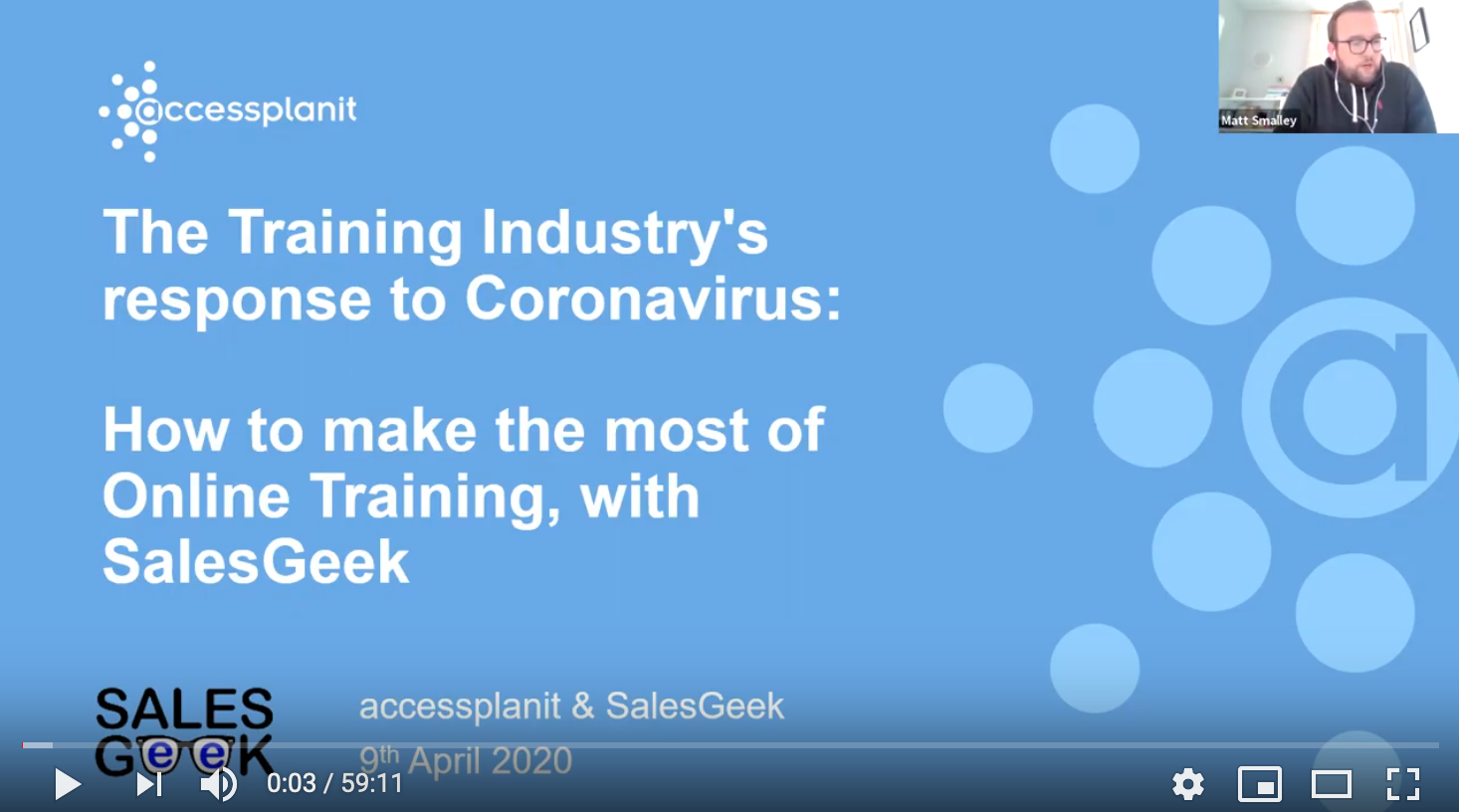 Webinar: The art of online training with Sales Geek